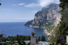 Capri. A view of the coast of Capri from the side of Marina Piccola Royalty Free Stock Photo