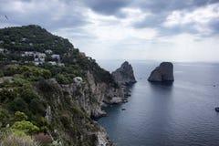 Capri. A view from costa dei Faraglioni of Capri Stock Image