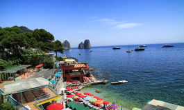 Capri. A view of the Faraglioni on the island of Capri in Italy Stock Photography
