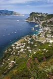 Capri view looking towards Sorrento Royalty Free Stock Photo