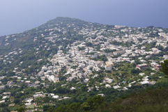 Capri view from Monte Solaro in Italy Royalty Free Stock Photo