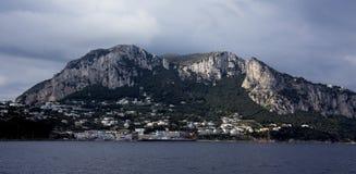 Capri. A view to arrival at Marina Grande, Capris port Stock Photo