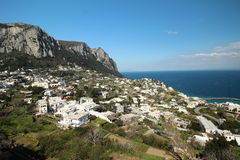 Capri from viewpoint. Photo taken in Piazzetta, Capri, Italy Royalty Free Stock Image
