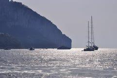 Capri vom Meer Stockbilder