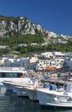 Capri - vue de port Photo libre de droits