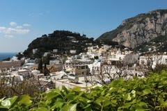 Capri, vue Italie de colline Photos stock