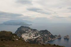 Capri, vue Italie de colline Images libres de droits