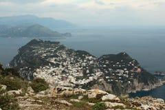 Capri, vue Italie de colline Photo libre de droits