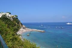 Capri, Włochy 2014 Morze obrazy stock