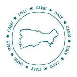 Capri wektorowa mapa Obrazy Royalty Free