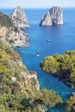 Capri wyspa, Campania region, Włochy Zdjęcia Stock