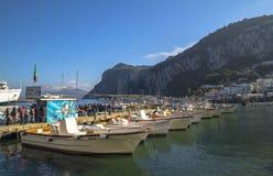 Capri wyspa - Marina Grande Zdjęcia Stock