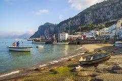 Capri wyspa - Marina Grande Fotografia Royalty Free