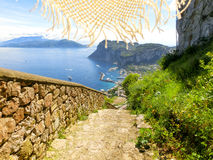 Capri wyspa, Włochy, blisko Naples Zdjęcie Royalty Free