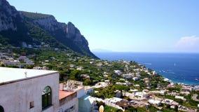 Capri wyspy odgórny widok Włochy zdjęcie wideo