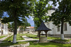 Capriana Monastery courtyard, Moldova Stock Photo