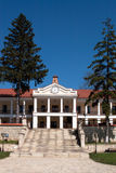 Capriana monastery, main building stock photography