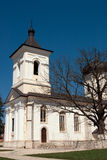 Capriana monastery, the stone church stock photography