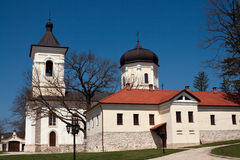Capriana monastery, the stone church Royalty Free Stock Images