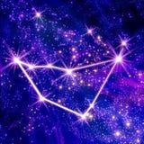 Capricórnio da constelação ilustração stock