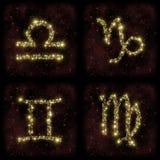 Capricórnio Gemini Virgo Stars da Libra do zodíaco Foto de Stock Royalty Free