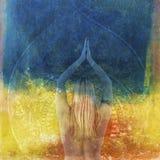 Capricci di yoga Fotografie Stock Libere da Diritti