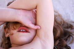 Capriccio del bambino Fotografie Stock Libere da Diritti