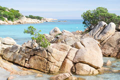 Capriccioli岩石 图库摄影