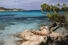 Capriccioli beach. The beautiful beach of North Sardinia Stock Images