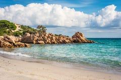 Capriccioli beach in Sardinia, Italy. Capriccioli beach near Arzachena in Olbia-Tempio province, Sardinia, Italy stock photography