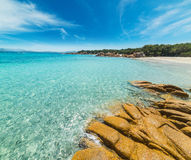 Capriccioli beach in the summertime Stock Photography