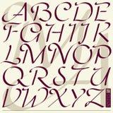 'Caprice Initials' alphabet. 'Caprice Initials' calligraphic font, for initials and majuscule Stock Images