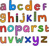 Capricieus Alfabet In kleine letters vector illustratie