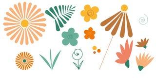 Capricieuze geplaatste bloemen Royalty-vrije Stock Fotografie