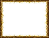 De gesponnen Grens van de Karamel en van de Chocolade Royalty-vrije Stock Foto's