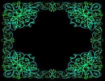 Capricieuze Grens, Zwarte Achtergrond Stock Afbeelding