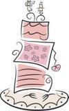 Capricieuze huwelijkscake royalty-vrije illustratie