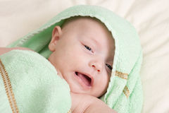 Capricious Baby Girl Stock Images