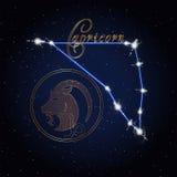 Capricom黄道带的占星术星座 库存照片