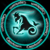 Capricorn. Astrological background of the Capricorn Stock Photo