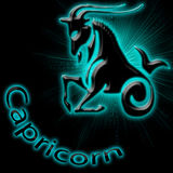 Capricorn. Astrological background of the Capricorn Stock Photos