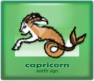 Capricorn. Earth sign of zodiac stock illustration