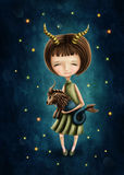 Capricorn astrological sign girl Stock Photo