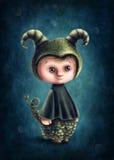 Capricorn astrologiczna szyldowa chłopiec Obrazy Royalty Free