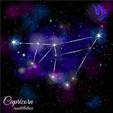 Capricorn Constellation With Triangular Background. Royalty Free Stock Images