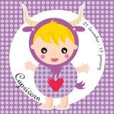 Capricorn dello zodiaco Fotografie Stock