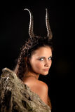 Capricorn girl. Capricorn or Goat woman, this photo is part of a series of twelve Zodiac signs of astrology Royalty Free Stock Images