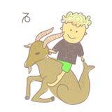 Capricorn horoscope. Vector graphic illustration design art Stock Image