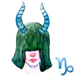 Capricorn horoskopu raster ilustracji