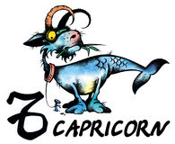 Capricorn illustration Royalty Free Stock Image
